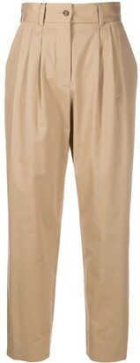 Dolce & Gabbana High-Waisted Chino Trousers