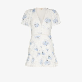 LoveShackFancy Bea floral broderie anglaise cotton mini dress