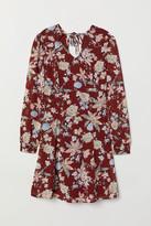 H&M V-neck Dress - Red