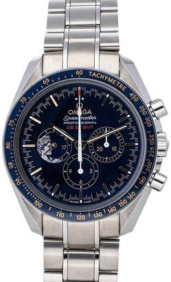 Omega Blue Stainless Steel Speedmaster Moonwatch Apollo XVII Anniversary Limited Edition 311.30.42.30.03.001 Men's Wristwatch 42 MM