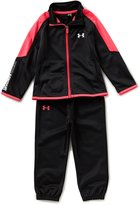 Under Armour Little Girls 2T-6X Color Block Track Jacket & Solid Pant Set