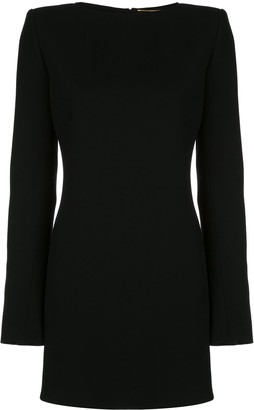 Saint Laurent Bow-Detail Open-Back Mini Dress