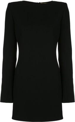 Saint Laurent bow open back mini dress