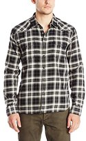 Lucky Brand Men's Del Mar Western Shirt in Black White