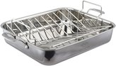 Lenox Tri-Ply Stainless Steel Roaster and Rack - Gray