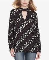Jessica Simpson Juniors' Printed Tie-Back Choker Blouse