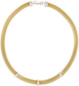 Alor Classique Coiled Cable Necklace w/ 3 Diamond Stations