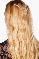 Boohoo Esme Pearl Embellished Hair Pin and Chain