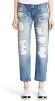 Junya Watanabe Women's Distressed Ankle Jeans