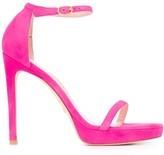 Stuart Weitzman suede high heel sandals