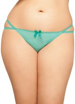 Seven Til Midnight SEVEN 'TIL MIDNIGHT Women's Plus-Size Queen Size Emma Open Crotch Thong