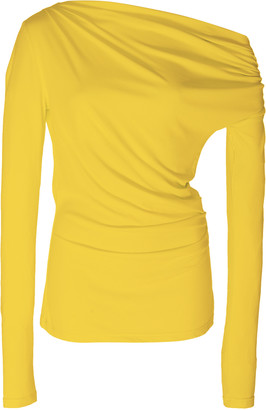 Acler Harmon Draped Stretch-Modal Top