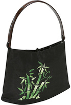 Global Elements Hand Embroidered Bamboo On Silk Handbag