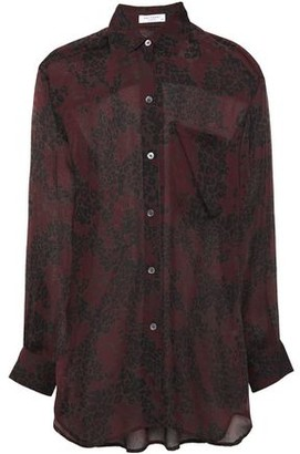 Equipment Daddy Leopard-print Silk-chiffon Shirt