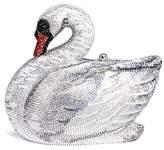 Judith Leiber 'Swan' crystal pavé minaudière