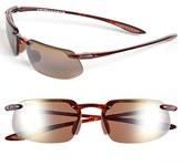 Maui Jim Men's 'Kanaha - Polarizedplus2' 62Mm Sunglasses - Gloss Black/ Bronze