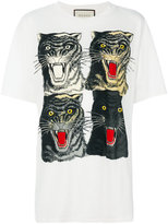 Gucci Tiger Face T-shirt - women - Cotton - M