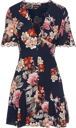 Nicholas Floral-print Silk Crepe De Chine Mini Dress
