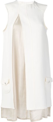 Courreges Layered Slit Sleeveless Dress