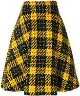 Miu Miu checked flared skirt