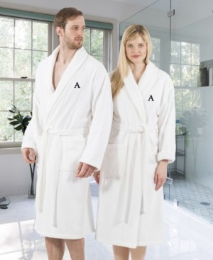 Linum Home 100% Turkish Cotton Personalized Terry Bath Robe - White Bedding