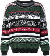 Gosha Rubchinskiy Fair Isle logo knit sweater