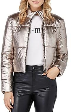 David Lerner Bella Metallic Puffer Jacket