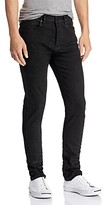 Purple Brand 3-d Resin Skinny Fit Jeans in Black Repair