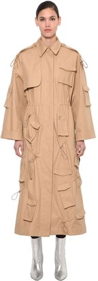 Annakiki Huawei Long Windbreaker Trench Coat