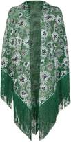 Missoni Embroidered Fringed Scarf, Green, One Size