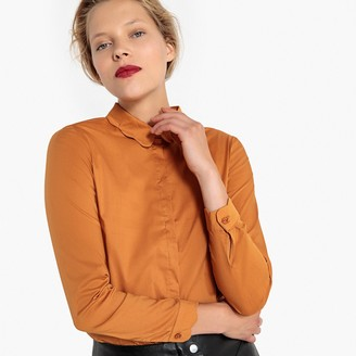La Redoute Collections Cotton Mix Shirt with Peter Pan Collar