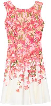 Gabby Skye Sleeveless Floral Print Scuba Dress