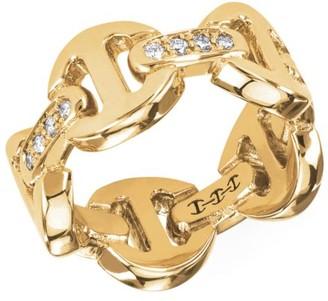 Hoorsenbuhs Dame Tri-Link 18K Yellow Gold & Diamond Ring