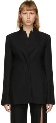 Ann Demeulemeester Black Wool Belted Blazer