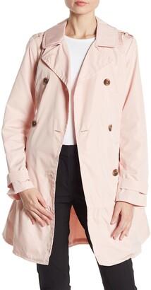 Kate Spade Flounce Hem Trench Coat