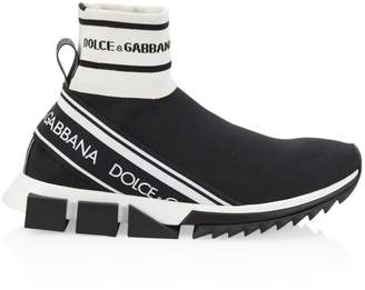Dolce & Gabbana Sorrento High-Top Chunky Sock Sneakers