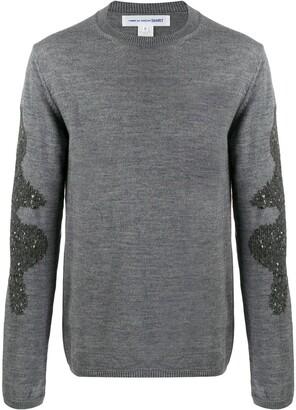 Comme des Garcons contrast knit jumper