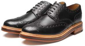 Grenson Archie Black Flat Shoes - 10 - Black/Brown