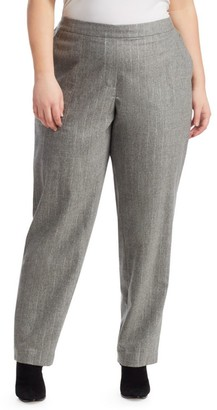 Lafayette 148 New York, Plus Size Fulton Striped Trousers