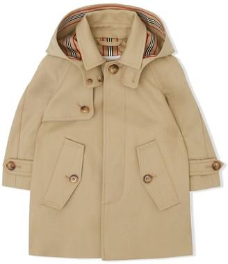 BURBERRY KIDS Detachable Hood Coat