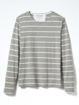 Banana Republic Soft-Wash Breton-Stripe Long-Sleeve Crew