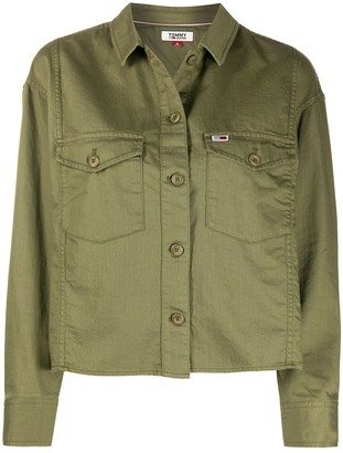 Tommy Jeans Flap-Pockets Shirt Jacket