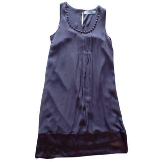Gerard Darel Purple Silk Dress for Women