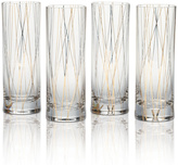 Mikasa Lustre Set of 4 Lines Gold Collins Glasses