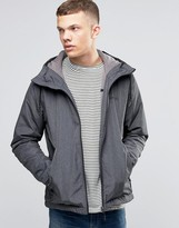 Bench Zip Through Lightweight Jacket with Hood in Black