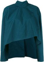 Marni high neck asymmetric crop blouse