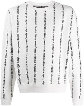Enfants Riches Deprimes Loose-Fit Logo-Print Sweatshirt