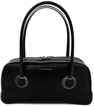 Marge Sherwood Bessette Zipper Leather Top Handle Bag