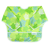 Bumkins Green Turtles Sleeved Bib