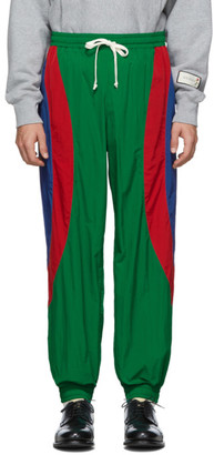 Gucci Red and Green Waterproof Jogging Lounge Pants